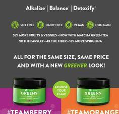 I'm team berry!! Which team do you choose?!?!  Comment below 👇 which team you like!! #tonahlmillerwraps #teamberry #teamorange #alkaline #balance #detoxify #soyfree #vegan #dairyfree #nongmo #more #fiber #fruits #veggies #matcha #greentea #parsley #spirulina