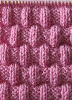 Free Knitting Pattern for Easy Jordan Baby Blanket - This easy blanket is knit with just knit and purl stitches to create a puffy texture. Size is easily customizable. Rated easy by Ravelrers. Designed by marianna mel. Easy Knitting Patterns, Knitting Charts, Baby Knitting, Stitch Patterns, Crochet Patterns, Free Knitting, Diy Crafts Knitting, Knitted Baby Blankets, How To Purl Knit