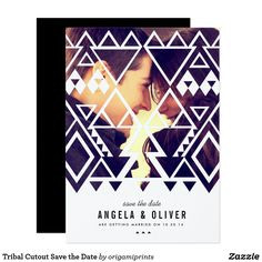 Tribal Cutout Save the Date Card