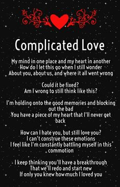 Complicated Love Poems for Complex Relationships