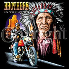 Indian T-shirt - Brothers Motorcycle Tee Biker T-shirts Indian T-shirt - Brothers Biker Tee Image Size: 10 X 12 Available in small, medium, large, XL, Biker Wear, Biker T Shirts, Cool Shirts, More Fun, Size 10, Motorcycle, Indian, Medium, Tees