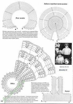 View album on Yandex. Yandex, Crochet Diagram, Views Album, Doll Clothes, Crochet Hats, Author, Throw Pillows, Dolls, Crocheting
