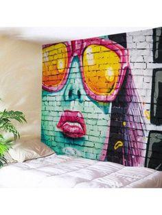 Brick Wall Painting Print Tapestry Wall Hanging Art