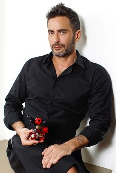 I love that Marc Jacobs wears skirts.  He owns that look and makes it incredibly sexy.