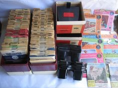 $389.95 VTG 200+ Sawyers Viewmaster Reels + Model C&E Viewers +2 Lights +2 Library cases
