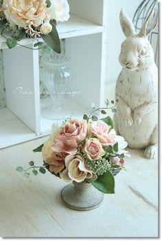 フラワーアレンジ【sn68】花器付きSurunnuage/造花アートフラワーインテリアアーティフィシャルフラワーお祝い10P06May15