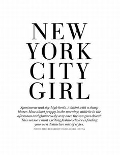 NYC girl for sure <3