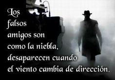 Los Falsos Amigos Son Como La Niebla, Desaparecen Cuando El Viento Cambia De Dirección ...