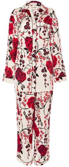 Silk Satin Pyjama Set - TEMPERLEY LONDON