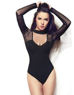 Women's Clothing Hot Women Ladies Lace Deep V Neck Cross Bodysuit Leotard Long Hollow Sleeve Sexy Body Tops Jumpsuit To Suit The PeopleS Convenience