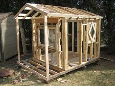 diy playhouse tutorial – It's not furniture but requires building so it's going on this board – G Pallet Playhouse, Build A Playhouse, Playhouse Ideas, Playhouse Outdoor, Cubby Houses, Play Houses, Outdoor Projects, Home Projects, My Pool