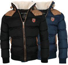Geographical Norway Warm Designer Mens Winter Quilted Jacket Winter Jacket New Sport Pullover, Zip Hoodie, Moda Men, Herren Winter, Mens Winter, Baby Girl Jackets, Geographical Norway, Mens Fashion Wear, Dress For Success