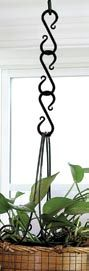 2-1/2 inch S-Chain Link Plant Hanger - Set of 3 - http://www.okdecor.com/store/p23/decorative-S-Hook-Plant-Hangers.html