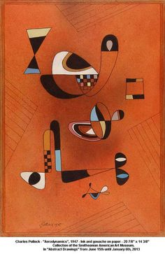 """Charles Pollock - """"Aerodynamics"""" The Smithsonian American Art Museum shows """"Abstract Drawings"""" from the Collection"""