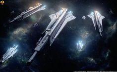 Archers of Space - Artillery Cruisers by Euderion.deviantart.com on @DeviantArt