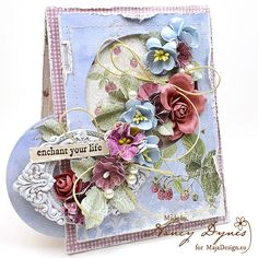 Nancy Dynes has created this fabulous card for MajaDesign. Papers from Coffee in the Arbour. <3  #card #cardmaking #cardinspiration #papercraft #papercrafting #papercrafts #scrapbooking #majadesign #majadesignpaper #majapapers #inspiration #vintage