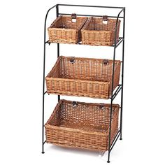 Skalny Willow Iron 3-Tier Four Bin Display Organizer