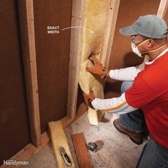 Cut Fiberglass Batts to Exact Widths - It's easy to insulate your walls with…
