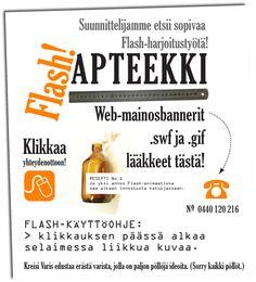 Ilmoitus verkkosivulla. Kreisi Varis – Graafinen suunnittelu Tmi, 2007–2009. Natasha Varis, Art Director.