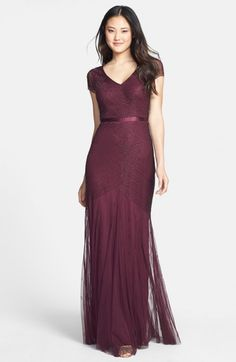Adrianna Papell Beaded Mesh Gown | Dress, Frock and Clothing