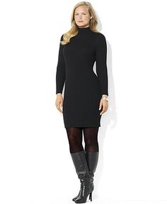 Long sleeve plus size sweater dresses