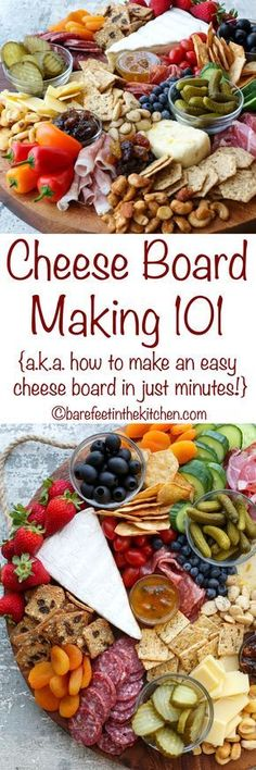 Cheese Board Making 101 - get all the ingredients and directions at barefeetinthekitc. - - Cheese Board Making 101 - get all the ingredients and directions at barefeetinthekitc. Snacks Für Party, Appetizers For Party, Appetizer Recipes, Meat Appetizers, Greek Appetizers, Party Nibbles, Dinner Recipes, Parties Food, Thanksgiving Appetizers