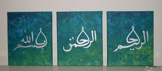 I009 Handpainted Arabic Calligraphy Islamic Wall Art picture 3 Piece Oil Painting On Canvas Abstract Pictures For Home decor $40.00
