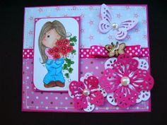 Márcia - cartões: Cartão rosa!