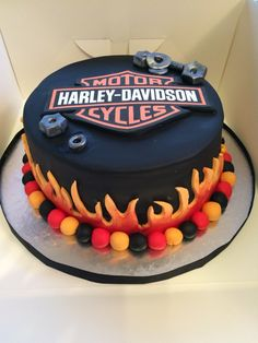 Harley Davidson themed 60th birthday cake Harley Pinterest
