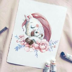 Cute unicorn art adorable cute illustrations в 2019 г. Doodle Drawing, Unicorn Drawing, Unicorn Art, Cute Unicorn, Painting & Drawing, Black Unicorn, Unicorn Illustration, Art Et Illustration, Animal Drawings