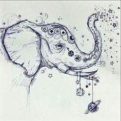 """""""If you do not have a memory like an elephant, leave impressions like one."""" art: Kylie Jenkins"""