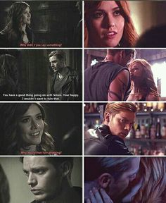 Clary and Jace. Shadowhunters Series, Shadowhunters The Mortal Instruments, Movies And Series, Book Series, Clary Et Jace, Freeform Tv Shows, Reading City, Ya Novels, Clace