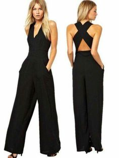 Crisscross jumpsuit w pockets 15 Dresses bb2d7f707