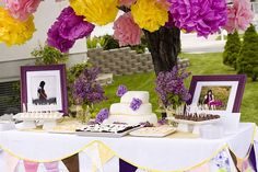 Lilac's and lemonade baby shower birthday party idea. See more at www.karaspartyideas.com