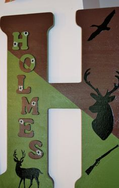 Hey, I found this really awesome Etsy listing at https://www.etsy.com/listing/166523209/deer-hunting-theme-18-inch-letter-your