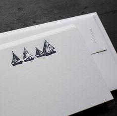 Sailboats Note Cards - Boxed Sets