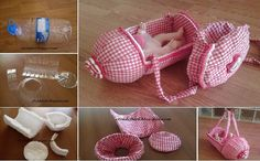 ourdailyideas.com diy-doll-pet-bottle-stroller