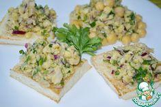 Салат из нута на тостах - кулинарный рецепт