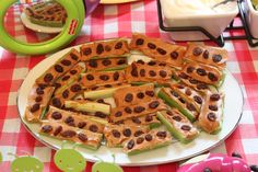 Ants on a Log Snack - Bug Birthday Party Theme
