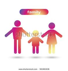 Family Icon in trendy flat style isolated on grey background. Parents symbol for web site design, logo, poster, sign. Mother, father and child Vector illustration. Family house poster, Happy people