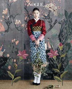 "koreanmodel: "" Han Hye Jin, Kim Won Kyung by Hong Jang Hyun for Vogue Korea Oct 2016 "" Oriental Fashion, Ethnic Fashion, Asian Fashion, Fashion Art, Fashion Beauty, Fashion Design, Vogue Korea, Korean Traditional Dress, Traditional Dresses"