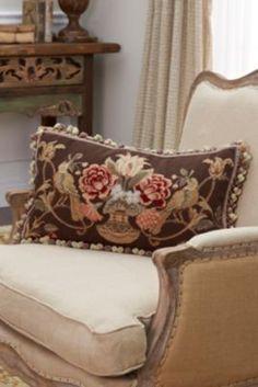 L'Oiseau Aubusson Pillow from Soft Surroundings