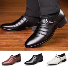 f126bf40c6a Price  US  18.99 Men s Oxfords Leather Shoes Casual Pointed Toe Wedding  Formal Office Work Shoes005