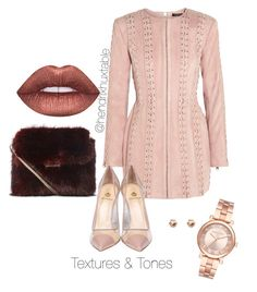 """""""Textures & Tones"""" by hendrixhuxtable on Polyvore featuring Balmain, Semilla, Lime Crime, River Island and Michael Kors"""