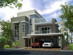 3 storey house plans for small lots beautiful house plans for narrow lots p Two Storey House Plans, 2 Storey House, Storey Homes, Luxury House Plans, Modern House Plans, Modern House Design, Small Modern Home, Modern Contemporary Homes, Two Story House Design