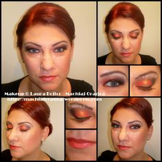 red, gold and black makeup