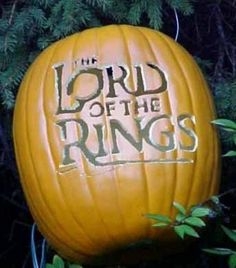 Lord of the Rings pumpkin