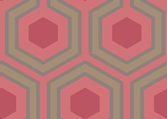 Cole & Son Contemporary Restyled Wallpaper Collection Hicks Grand in Red wallpaperdirect