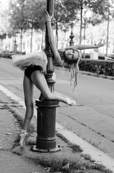 """SHE COULDN'T FIND THE """"POLE"""" IN THE DANCE CLASSROOM……..SO FIGURED THIS WAS THE NEXT BEST THING………..ccp"""