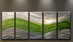 Metal Wall Art Modern Abstract Sculpture Large 5 Panels Handmade Decor Green Path Matthew's Art Gallery http://www.amazon.ca/dp/B00I73LYZM/ref=cm_sw_r_pi_dp_eLg-vb1VQ5MBT
